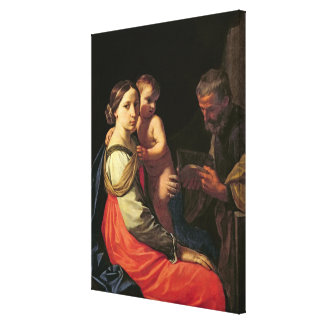 The Holy Family (oil on canvas) 2 Canvas Print