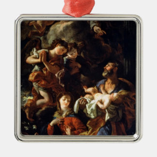 The Holy Family (oil on canvas) Christmas Ornament