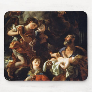 The Holy Family (oil on canvas) Mouse Pad