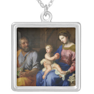 The Holy Family Silver Plated Necklace
