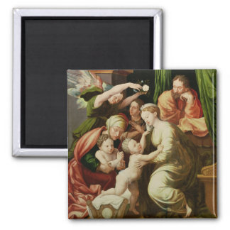 The Holy Family Square Magnet