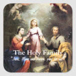 The Holy Family Square Stickers