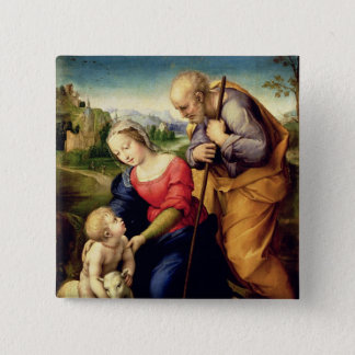 The Holy Family with a Lamb, 1507 15 Cm Square Badge