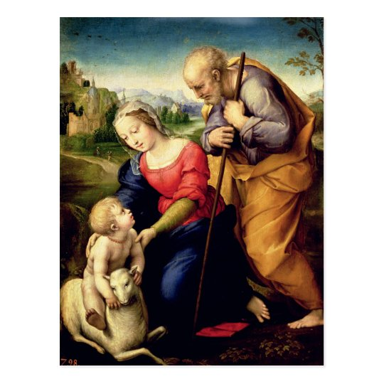 The Holy Family with a Lamb, 1507 Postcard