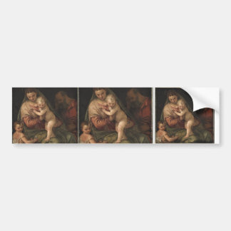 The Holy Family with child John by Paolo Veronese Bumper Sticker