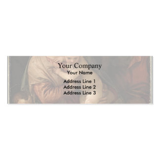 The Holy Family with child John by Paolo Veronese Business Card Template