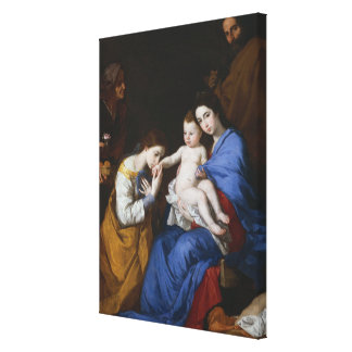 The Holy Family with Saints Anne and Catherine Canvas Print