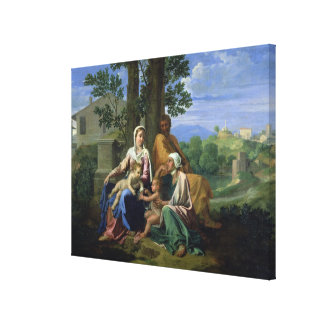 The Holy Family with SS. John, Elizabeth and the I Canvas Print