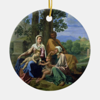 The Holy Family with SS. John, Elizabeth and the I Christmas Ornament