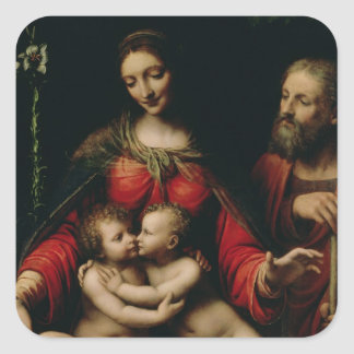 The Holy Family with the Infant St. John Square Sticker