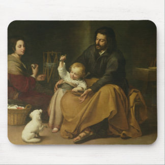 The Holy Family with the Little Bird, c.1650 Mouse Mat