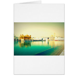 THE HOLY GOLDEN TEMPLE AMRISTAR PUNJAB GREETING CARD