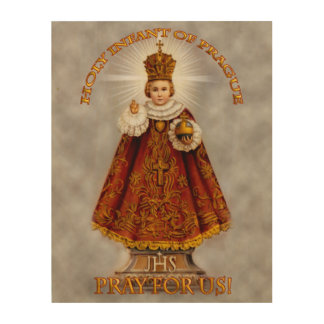 The Holy Infant of Prague Wood Wall Art