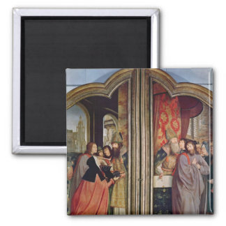 The Holy Kinship, or the Altarpiece of St. Square Magnet