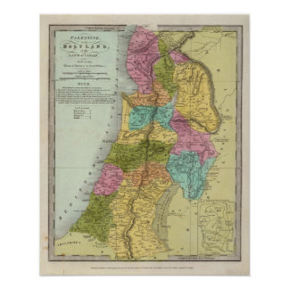 the Holy Land of Palestine Poster
