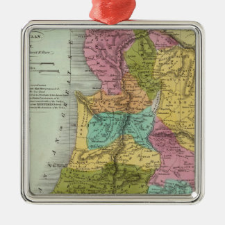 the Holy Land of Palestine Silver-Colored Square Decoration