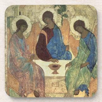 The Holy Trinity, 1420s (tempera on panel) Beverage Coasters