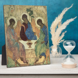 The Holy Trinity, 1420s (tempera on panel) Photo Plaques