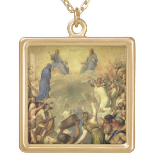 The Holy Trinity, 1553/54 (oil on canvas) Square Pendant Necklace