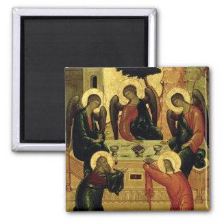 The Holy Trinity, Novgorod School, 15th century Magnet