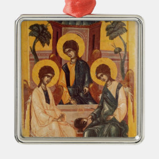 The Holy Trinity Silver-Colored Square Decoration