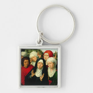 The Holy Women, right hand panel Silver-Colored Square Key Ring