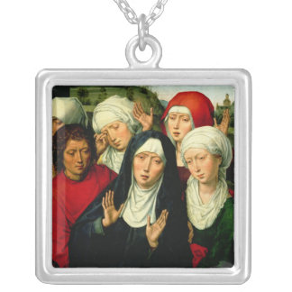 The Holy Women, right hand panel Silver Plated Necklace