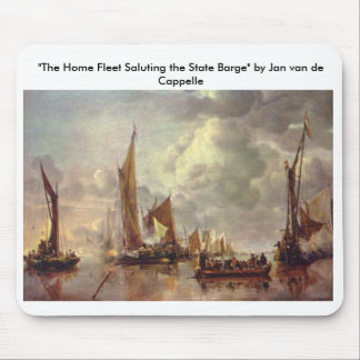 """The Home Fleet Saluting the State Barge"" Mouse Pad"