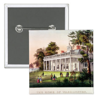The Home of George Washington 15 Cm Square Badge