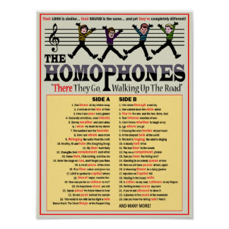 The Homophones Poster