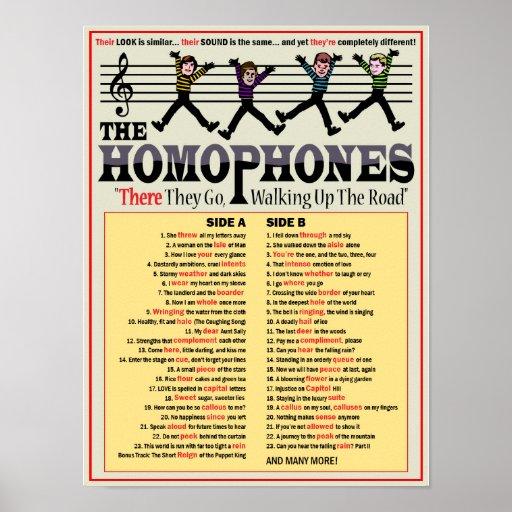 The Homophones Posters