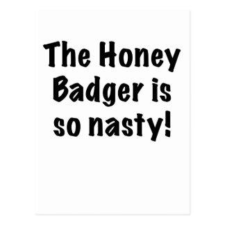 The Honey Badger is So Nasty Postcard