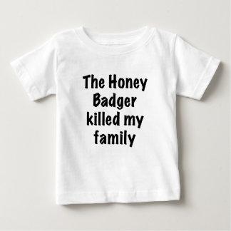The Honey Badger Killed My Family T Shirts
