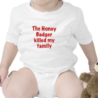 The Honey Badger Killed My Family Tee Shirts
