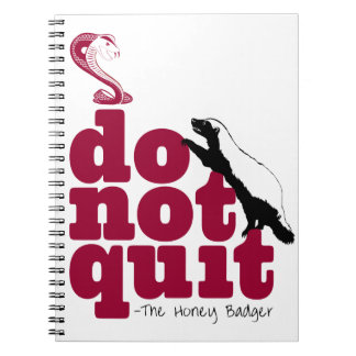 The Honey Badger Spiral Notebook