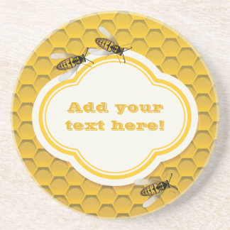 The Honeycomb and Bees Coaster