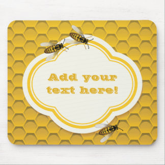 The Honeycomb and Bees Mouse Pad