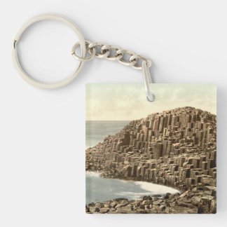 The Honeycombs, Giant's Causeway, Co Antrim Double-Sided Square Acrylic Key Ring