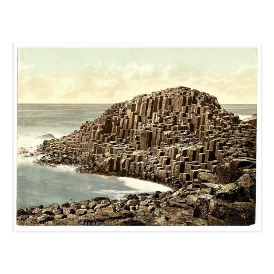 The Honeycombs. Giant's Causeway. Co. Antrim, Irel Postcard