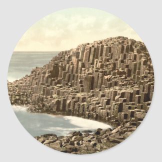The Honeycombs, Giant's Causeway, County Antrim Classic Round Sticker