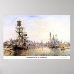 The Honfleur Sea port by Claude Monet Posters