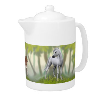 The Horse Family Teapot