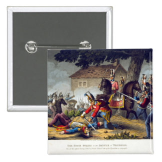 The Horse Guards at the Battle of Waterloo, engrav 15 Cm Square Badge