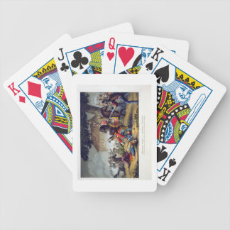 The Horse Guards at the Battle of Waterloo, engrav Bicycle Playing Cards