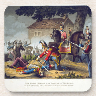 The Horse Guards at the Battle of Waterloo engrav Coaster