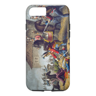 The Horse Guards at the Battle of Waterloo, engrav iPhone 8/7 Case