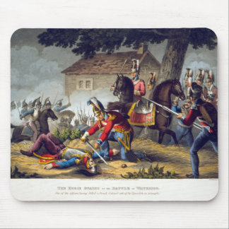 The Horse Guards at the Battle of Waterloo, engrav Mouse Pad