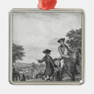 The horse race christmas ornament