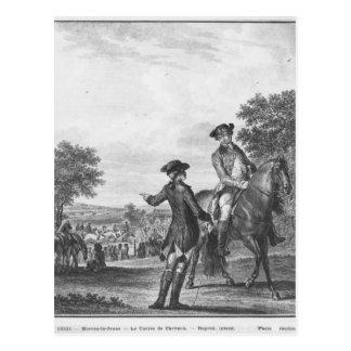 The horse race postcard