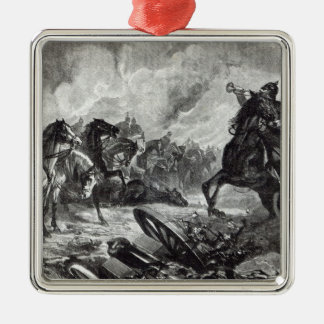 The horses of Gravelotte Silver-Colored Square Decoration
